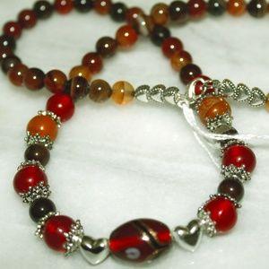 Jewelry - MULTI TYPE GEMSTONE SILVER HEART NECKLACE 316.5 CT